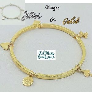 MARC JACOBS Gold or Silver Charm Bangles